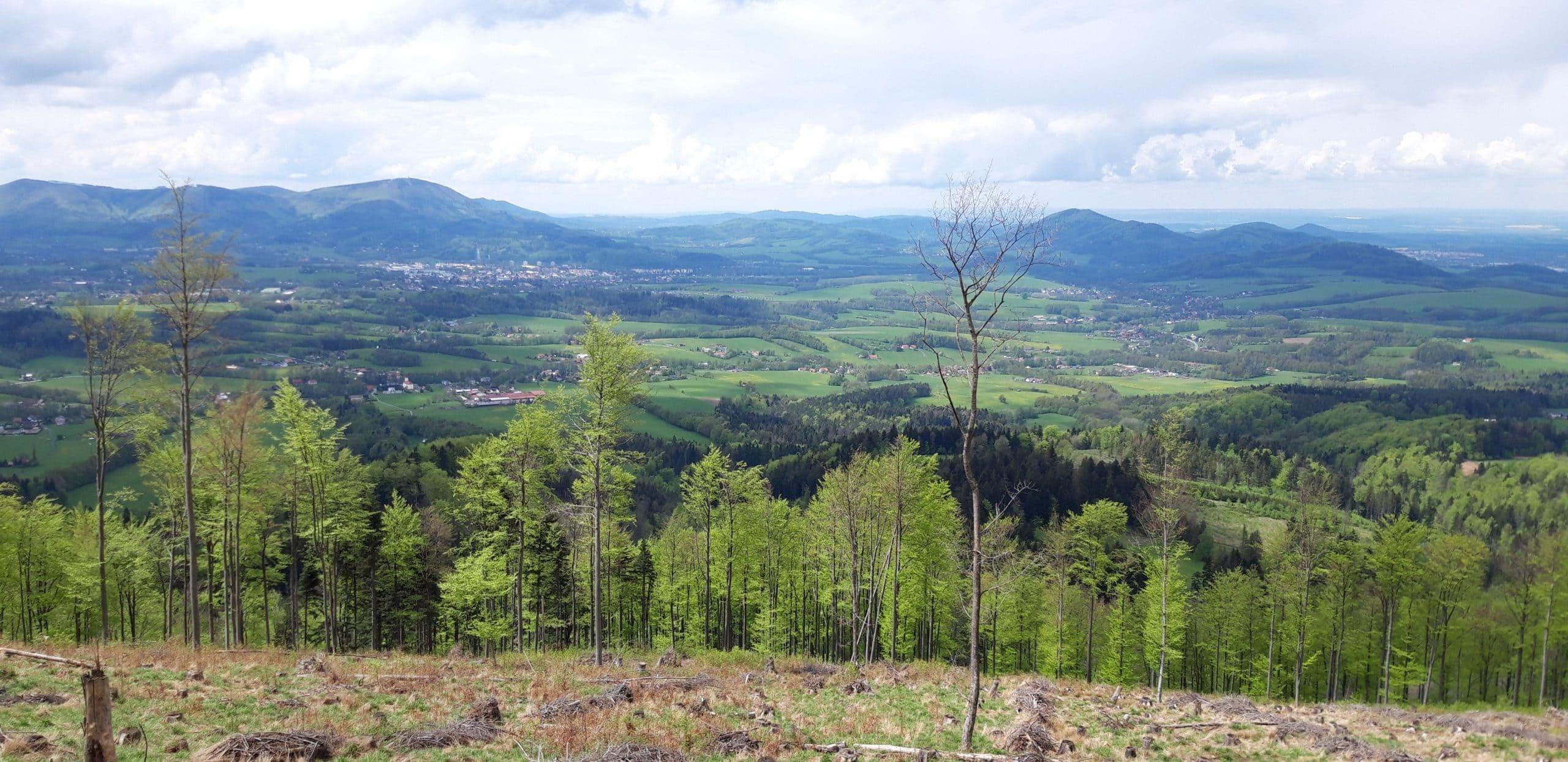 výhled na Kozlovice