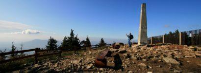 Vrcholový obelisk na Lysé hoře