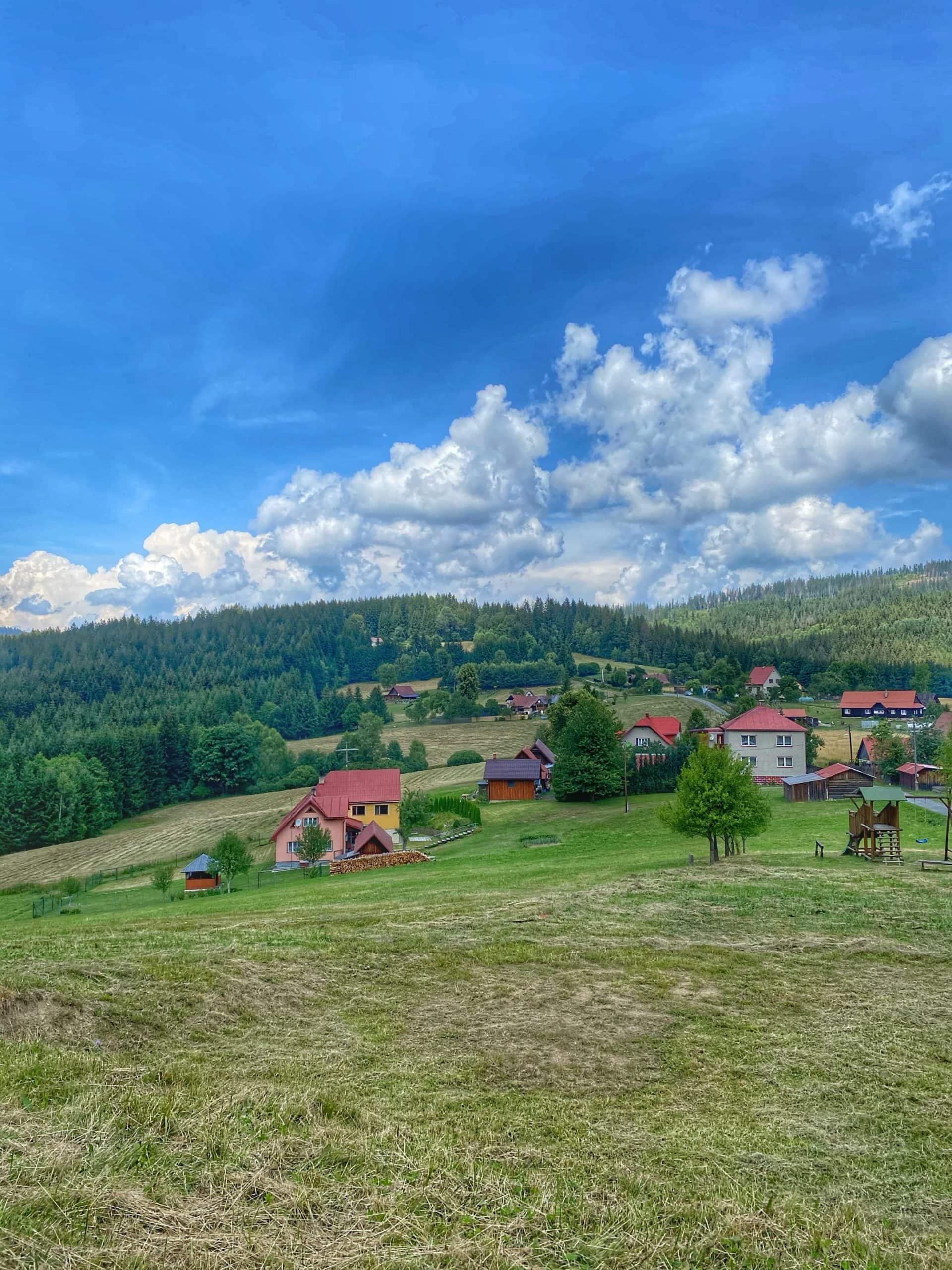 Výhled od Horské chaty Doroťanka